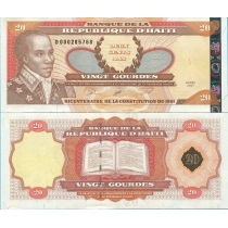 Гаити 20 гурд 2001 год. Серебряная. 200 Лет Конституции