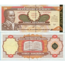 Гаити 20 гурд 2001 год. Золотая. 200 Лет Конституции