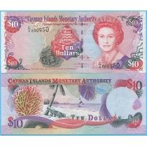 Каймановы острова 10 долларов 2005 год.