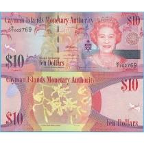 Каймановы острова 10 долларов 2010 год.