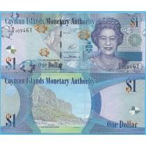 Каймановы острова 1 доллар 2014 год.