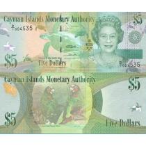 Каймановы острова 5 долларов 2010 год.