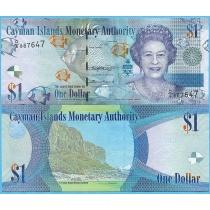 Каймановы острова 1 доллар 2018 год.