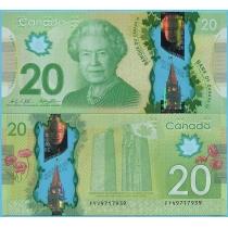 Канада 20 долларов 2014 год.