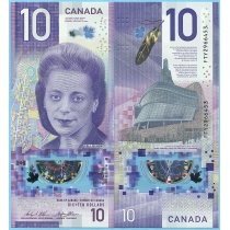 Канада 10 долларов 2018 год.