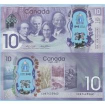 Канада 10 долларов 2017 год. Юбилейная.
