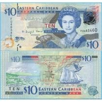 Восточные Карибы 10 долларов 2012 год.