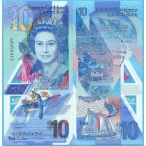 Восточные Карибы 10 долларов 2019 год.