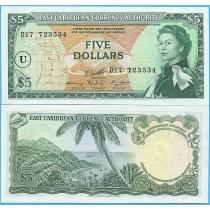 Восточные Карибы 5 долларов 1965 год. U.
