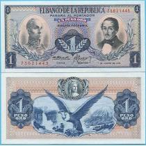 Колумбия 1 песо 1973 год.