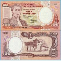 Колумбия 100 песо 1991 год. P-426e.2