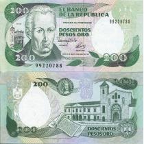 Колумбия 200 песо 1992 г.