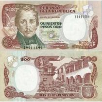 Колумбия 500 песо 1993 год.