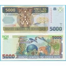 Коста Рика 5000 колон 2005 год.