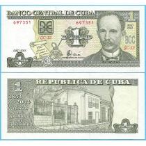 Куба 1 песо 2003 год. 150 лет со дня рождения Хосе Марти