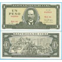 Куба 1 песо 1988 год.