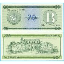 Куба 20 песо 1985 год. В