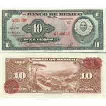 Мексика 10 песо 1953 год.