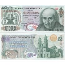 Мексика 10 песо 1975 год.