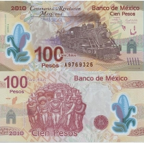Мексика 100 песо 2010 г. 100 лет Революции