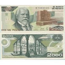 Мексика 2000 песо 1989 год.