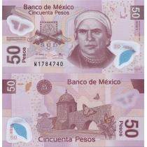 Мексика 50 песо 2012 год.