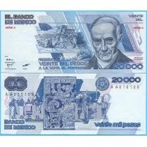 Мексика 20000 песо 1985 год.