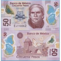 Мексика 50 песо 2017 год.