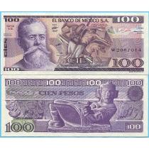 Мексика 100 песо 1982 год. Серия VЕ.