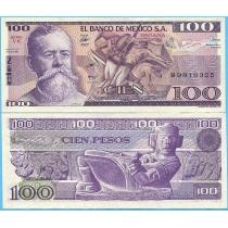 Мексика 100 песо 1982 год. Серия VК.