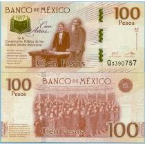 Мексика 100 песо 2016 год. 100 лет Конституции