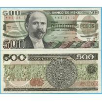Мексика 500 песо 1984 год.