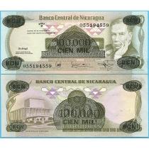 Никарагуа 10.000 кордоба 1987 год.