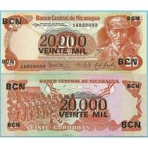 Никарагуа 20.000 кордоба 1987 год.