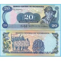 Никарагуа 20 кордоба 1985 год.