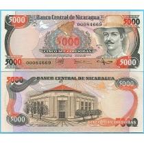 Никарагуа 5000 кордоба 1985 год.