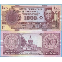 Парагвай 1000 гуарани 2004 год.