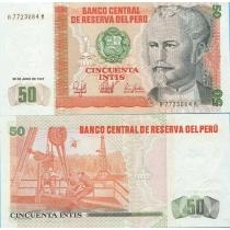 Перу 50 инти 1987 год.