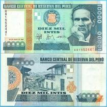 Перу 10000 инти 1988 год.