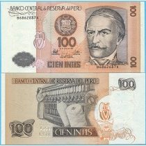 Перу 100 инти 1987 год.