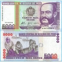 Перу 5000 инти 1988 год.