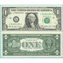 США 1 доллар 1977 год.  P-462а L