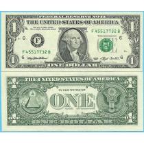 США 1 доллар 1993 год.  P-490aF