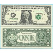 США 1 доллар 1999 год.  P-504 L