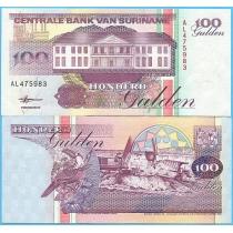 Суринам 100 гульденов 1998 год.