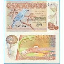Суринам 2,5 гульдена 1985 год.