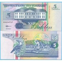 Суринам 5 гульденов 1998 год.