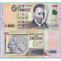 Уругвай 100 песо 2015 (2018) год.
