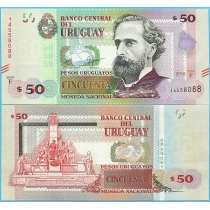 Уругвай 50 песо 2015 год. F