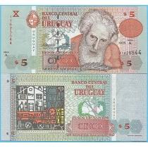 Уругвай 5 песо 1998 год.
